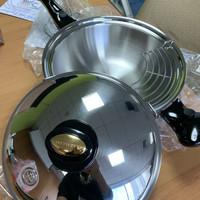 Wok saladmaster special edition gold handle