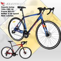 Sepeda Balap ELement FRC 38 ROADBIKE FRAME ALLOY brifter 2x8speed