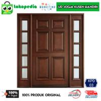 KPD03 -Set kusen pintu utama pintu depan kayu mahoni
