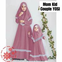 MK YOSI/Couple Mom Kids/Gamis Couple/Baju Muslim Pasangan/Ibu Anak
