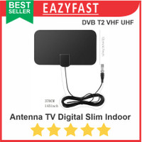 Antenna TV Digital HDTV DVB-T2 Slim Flat Antena Indoor Tempel VHF UHF