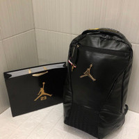 Tas Ransel Pria Jordan Leather Black Original