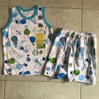 Velvet Junior Setelan Oblong Kutung Baju Anak Blue