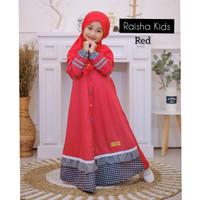 Baju Muslim Anak Perempuan Gamis Anak 9 tahun Perempuan RAISHA 7-9 th