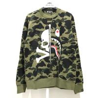 Bape Mastermind VS Bape Crewneck Sweater - Green 100% Original