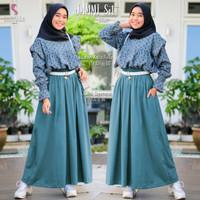 Baju Fashion Setelan Remaja Muslim Atasan Dan Rok Jammi Set