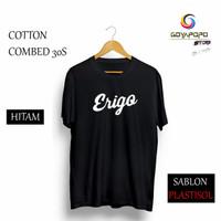 Kaos ERIGO APPAREL T-shirt Premium Brand Distro Baju pria wanita Tshir