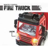 Mainan remote control fire truck accurate lightning semi diecast