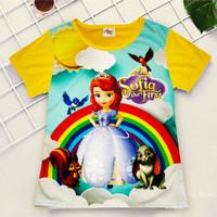 [ BIG SALE ] Kaos Anak Baju Anak Murah Full Printing Putri Sofia - 1-2 tahun