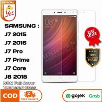 TG J7 Pro Prime J8 Samsung Tempered Glass YES Anti Gores Kaca Bening