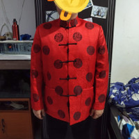 Baju Cheongsam Pria ukuran Jumbo bahan satin tebal