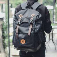 DENVER BLACK  MNM x ARCIO  Tas Ransel Pria Backpack Pria Tas Punggung - Black