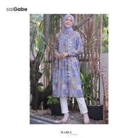 Baju Atasan Wanita Terbaru Tunik Motif by Marvi's