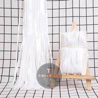 Backdrop / Rumbai PUTIH / Curtain Foil / Tirai Foil PUTIH PASTEL