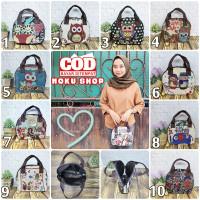 Tote Bag Kanvas Mini / Tas Bangkok Kanvas / Handbag Owl Gajah