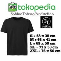 t shirt baju kaos POLOS HITAM S M L XL XXL combad 30s distro obral