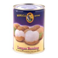 Kelengkeng Mamata Brand King Longan in Syrup buah kaleng 565 lengkeng