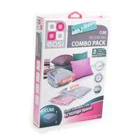 Plastic vacuum baju combo pack set 2 traveling( cube)