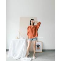 Blouse Wanita Katun Korea Atasan Loose S-XL Baju Kerja Casual - Silla