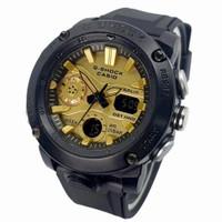 JAM TANGAN PRIA CASIO G Shock GA-2000 TERMURAH - HITAM PLAT GOLD