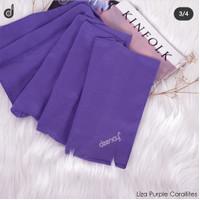 Jilbab Polos Segi Empat bahan Voal warna Ungu Purple by Deenay