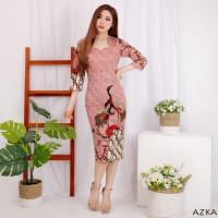 Dress Batik Wanita / Batik Modern / Batik Couple / Kebaya / Azka Dress