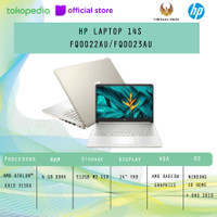 HP LAPTOP 14S-FQ0022AU/FQ0023AU AMD ATHLON 3150U 4GB 512GB W10+OHS FHD