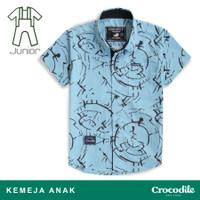 Crocodile THOR 0331 Blue - Kemeja Anak Junior Boy Shirt - Bahan Katun