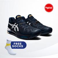 Asics Gel Resolution 8 French Blue Tennis Shoe / Sepatu Tenis Original