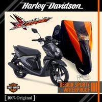 Sarung motor X-Ride motif Harley anti air
