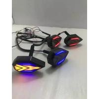 LAMPU SEN TEMPEL FAIRING LED IRON MAN/SEN TEMPEL NINJA/VIXION/R15/R25/