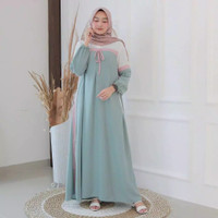 Diskon Gamis Affani Dress Muslim Wanita Murah
