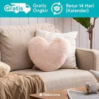 Dekoruma Nami Bantal Sofa Dekorasi bentuk Hati | Love Sofa Cushion