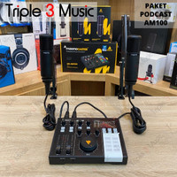 MAONO AM100 Bundle Paket Podcast 2 orang With Stand Arm