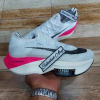 Sepatu Nike Air Zoom Alphafly Next White Black Pink