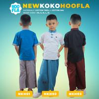 Hoofla Busana Muslim Anak Cowok Baju Muslim Anak Laki Cowok Sarcel - Merah, XS