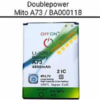 Baterai Doublepower Mito A73 BA000118 Batre Double Power Battery