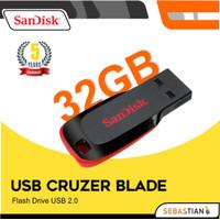 Flashdisk Sandisk 32Gb Cruzer Blade Original Flash Disk USB Laptop