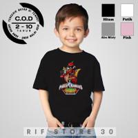 Baju/Kaos anak laki laki Power Ranger Dino Charge 2-10th cotton combed