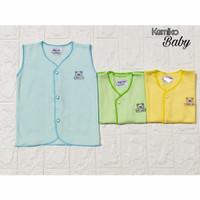 Baju Bayi kutung New Born/Baju Bayi Buntung Warna Polos Aplikasi - Kuning