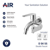 AIR Kran Dobel Keran Air / Double Faucet D 5K SS