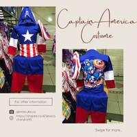 Setelan Stelan Baju Karakter Kostum Captain America Anak Laki Cowok