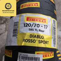 Ban Motor Pirelli Diablo Rosso Sport 120/70 Ring 17 Tubeless / Rear