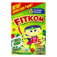 FITKOM GUMMY FRUIT AND VEGGIE 5 SACHET