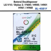 Baterai Doublepower LG Stylus 2 LG V10 F600 H900 H901 H961 BL-45B1F