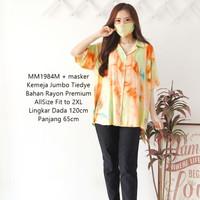 Atasan Wanita Baju Blouse Kemeja Jumbo blus big size Katun terlaris - Orange