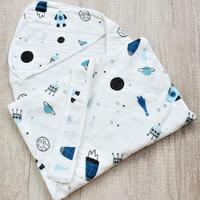 Selimut Topi Bayi Hoodie Blanket 85x85 - Space