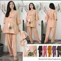 Stelan baju hamil/pakaian hamil/baju menyusui/dress hamil/cp,st25 - Kuning