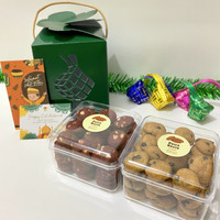 NURA Package - Hampers Lebaran Eid Mubarak - Kue Kering Putri Salju - Choco+RedVelvet