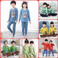 Setelan Baju piyama anak- baju tidur anak laki laki - perempuan 1-10th